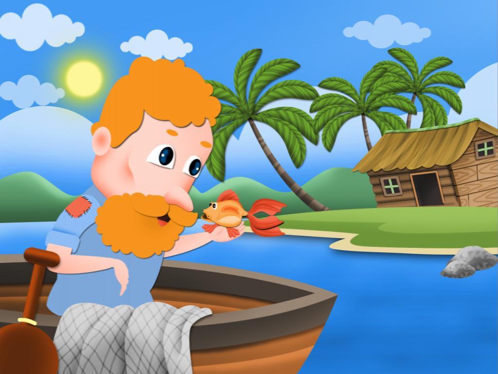 truyện cổ tích Ông lão đánh cá và con cá vàng.