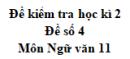Đề số 5 – Đề kiểm tra học kì 2 – Ngữ văn 11
